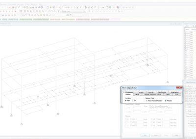 Entwurf von biegesteifen Rahmenkonstruktionen