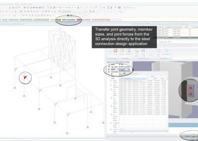 Integrierte Bemessung von Stahlbauverbindungen