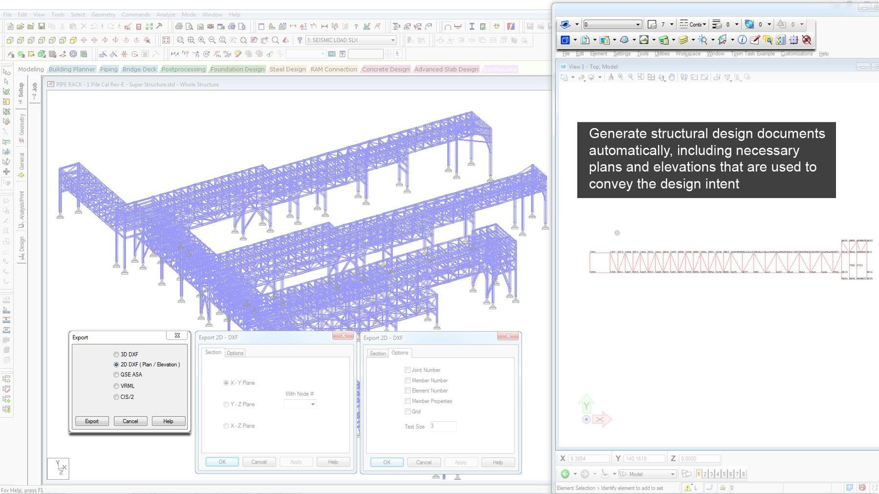 Produce structural design documentation