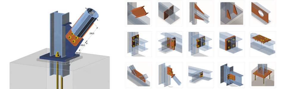 IDEA StatiCa Connection bietet ein Verfahren und Werkzeuge für die Analyse von Stahlverbindungen.
