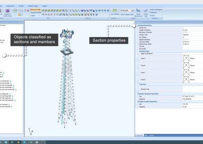 Model structural steel