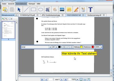 Well-arranged dialog boxes provide additional options for annotations